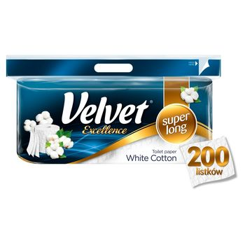 Velvet Excellence White Cotton Papier toaletowy 8 rolek