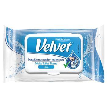Velvet Pure Nawilżany papier toaletowy 42 sztuki