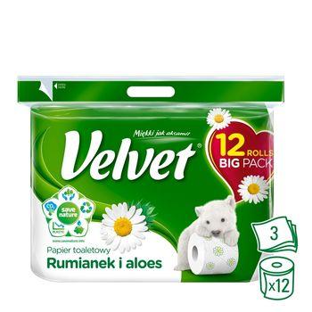 Velvet Rumianek i aloes Papier toaletowy 12 rolek