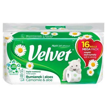 Velvet Rumianek i Aloes Papier toaletowy 16 rolek