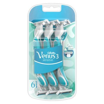 Venus 3 Sensitive Jednorazowe maszynki do golenia dla kobiet, 6 sztuk