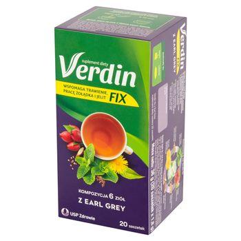 Verdin Fix Suplement diety kompozycja 6 ziół z earl grey 36 g (20 x 1,8 g)