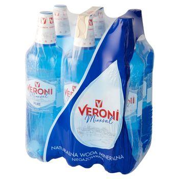 Veroni Mineral Pure Naturalna woda mineralna niegazowana 6 x 1,5 l