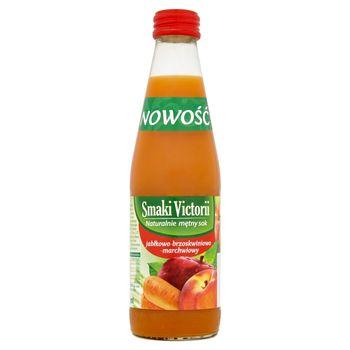 Victoria Cymes Smaki Victorii Naturalnie mętny sok jabłkowo-brzoskwiniowy-marchwiowy 250 ml
