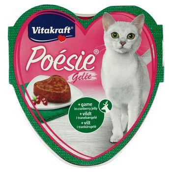 Vitakraft Poésie Dziczyzna z żurawiną w galarecie Karma pełnoporcjowa dla kotów 85 g