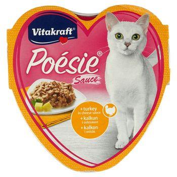 Vitakraft Poésie Indyk w sosie serowym Karma pełnoporcjowa dla kotów 85 g