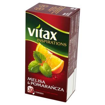 Vitax Inspirations Melisa and Pomarańcza Herbata owocowo-ziołowa 33 g (20 torebek)