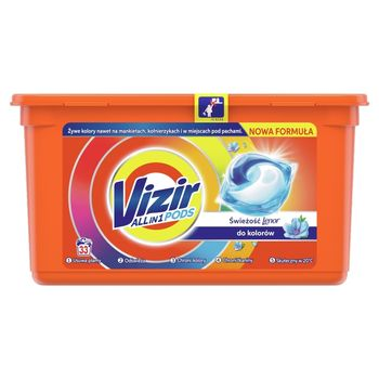 Vizir ALL in 1 Lenor Freshness Color Kapsułki do prania, 33prań
