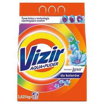 Vizir AquaPuder Touch of Lenor Color Proszek do prania 3.825KG, 51 prań