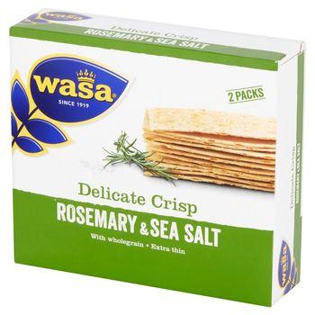 Wasa Ekstracienkie pszenne pieczywo chrupkie z rozmarynem i solą morską 190 g