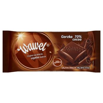 Wawel Czekolada gorzka 70% Cocoa 100 g