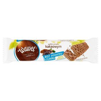 Wawel Bez dodatku cukru Wafel o smaku kakaowym 30 g
