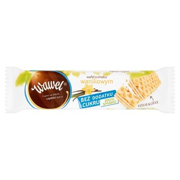 Wawel Bez dodatku cukru Wafel o smaku waniliowym 30 g