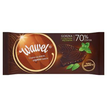 Wawel Czekolada gorzka z cząstkami miętowymi 70% Cocoa 100 g