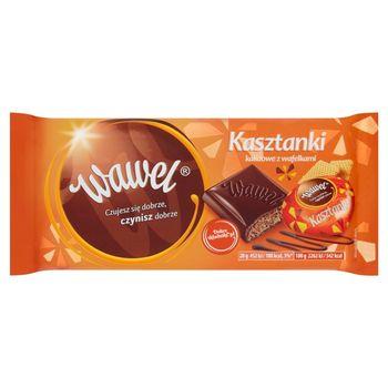 Wawel Kasztanki kakaowe z wafelkami Czekolada nadziewana 100 g