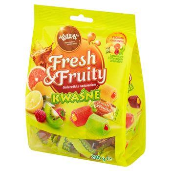 Wawel Fresh & Fruity Galaretki z nadzieniem kwaśne 280 g