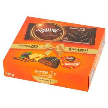 Wawel Kasztanki kakaowe z wafelkami Czekolada i czekolada gorzka 70% cocoa 450 g (350 g +100 g)