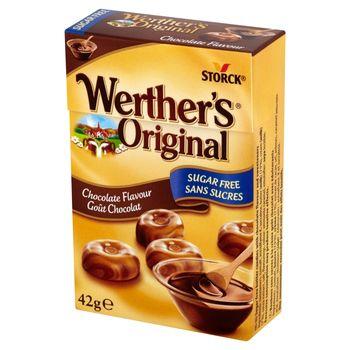 Werther's Original Cukierki śmietankowe bez cukru o smaku czekoladowym 42 g