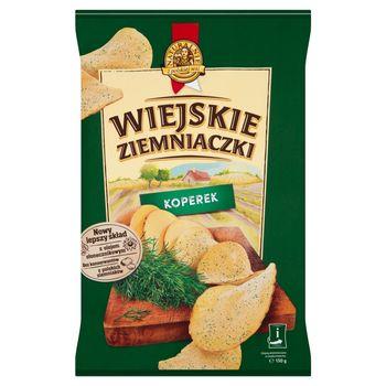Wiejskie Ziemniaczki Chipsy ziemniaczane o smaku koperku 130 g