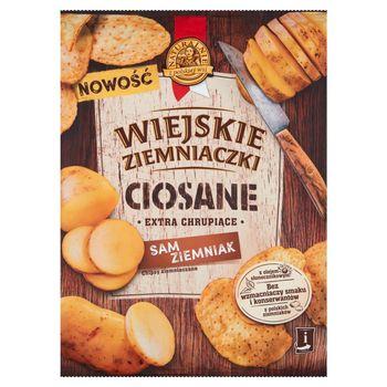 Wiejskie Ziemniaczki Ciosane Chipsy ziemniaczane grubo krojone solone 110 g