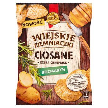 Wiejskie Ziemniaczki Ciosane Chipsy ziemniaczane o smaku rozmarynu 110 g