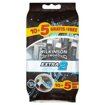 Wilkinson Sword Extra2 Activ Jednorazowe maszynki do golenia 15 sztuk