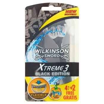 Wilkinson Sword Xtreme3 Black Edition Jednorazowe maszynki do golenia 6 sztuk