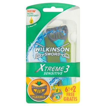 Wilkinson Sword Xtreme3 Sensitive Jednorazowe maszynki do golenia 8 sztuk