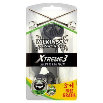Wilkinson Sword Xtreme3 Silver Edition Jednorazowe maszynki do golenia 4 sztuki