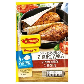 Winiary Pomysł na... Soczysta pierś kurczaka w pomidorach z bazylią 24,4 g
