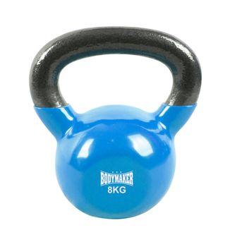 BodyMaker Kettlebell winylowy 8kg niebieski