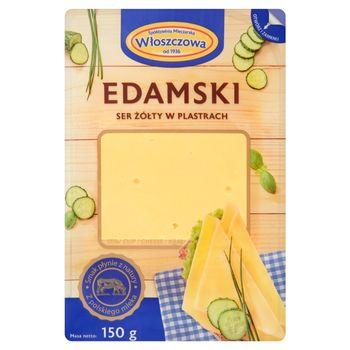 Włoszczowa Edamski ser żółty w plastrach 150 g