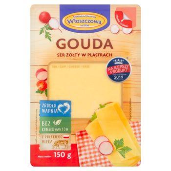 Włoszczowa Ser żółty gouda w plastrach 150 g