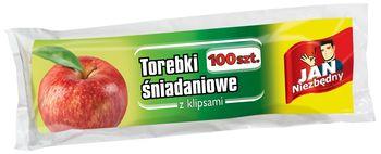 Woreczki JAN NIEZBĘDNY Torebki śniadaniowe z klipsami 100 szt.