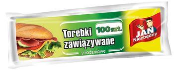 Woreczki JAN NIEZBĘDNY Torebki śniadaniowe zawiązywane 100 szt.