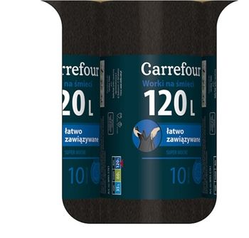 Worek CARREFOUR MC Strong 120 L