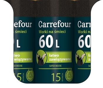 Worek CARREFOUR MC Strong 60 L
