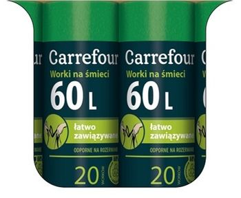 Worek CARREFOUR MC Zaw 60 L