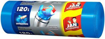 Worek JAN NIEZBĘDNY Easy Pack niebieskie 120l Worki Easy Pack niebieskie 120l