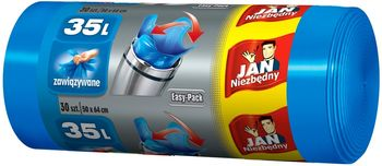 Worek JAN NIEZBĘDNY Easy Pack niebieskie 35l Worki Easy Pack niebieskie 35l
