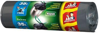 Worki na Śmieci z Taśmą JAN NIEZBĘDNY Magnum 35l
