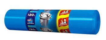 Worki na Śmieci JAN NIEZBĘDNY LD Niebieskie 120 l 25 sztuk