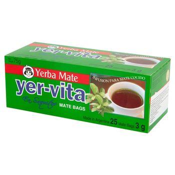 Yer-Vita Yerba Mate Ekspresowa herbata 75 g (25 torebek)