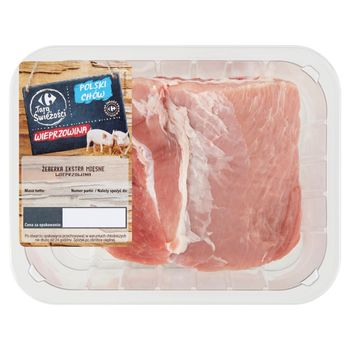 Carrefour Targ Świeżości Żeberka ekstra mięsne wieprzowina