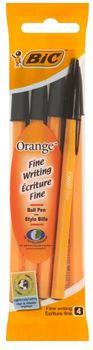 Zestaw długopisów BIC Orange Original Czarny 4 szt.