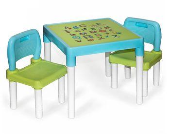 Zestaw Mebli dla Dzieci Alfa Stolik 2 Krzesła Blue