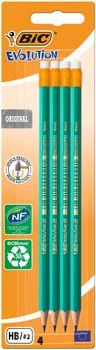 Zestaw ołówków BIC Evolution Ecolutions z gumką 4 szt.