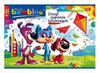 BAMBINO Zeszyt papierów kolorowych nabłyszczanych A4 (10 kartek)