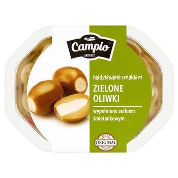 Campio Antipasti Zielone oliwki wypełnione serkiem śmietankowym 250 g
