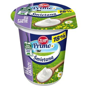 Zott Primo Bez laktozy Śmietana 18% 330 g